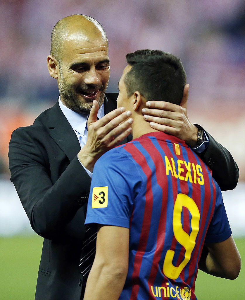 Alexis Sanchez Pep Guardiola